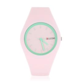 Zegarek silikonowy - jasny róż - Z1240