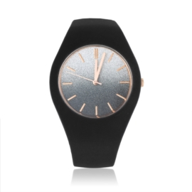 Zegarek silikonowy - brokatowy - Z1241