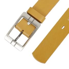 Pasek skórzany damski - żółty - 4cm - BL74