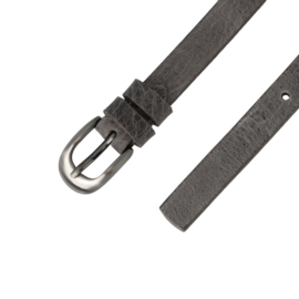 Pasek skórzany damski - szary - 2x100cm - BL33