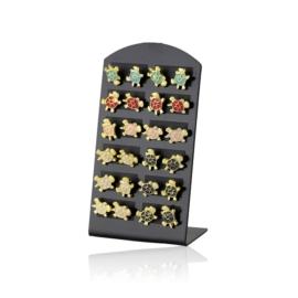 Kolczyki żółwiki na paletce - 12szt. - EA2603