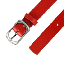 Pasek skórzany damski - Czerwony - 3cm - BL51