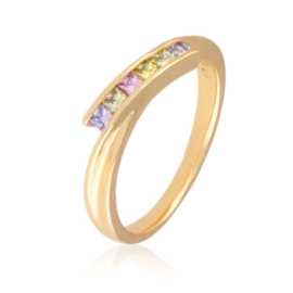 Pierścionek - kolorowe kryształki - Xuping PP2513