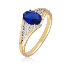 Pierścionek - niebieskie oczko - Xuping PP2514