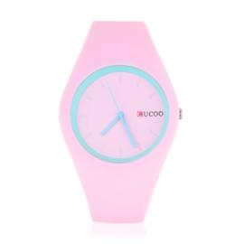 Zegarek silikonowy - cukierkowy róż - Z1248