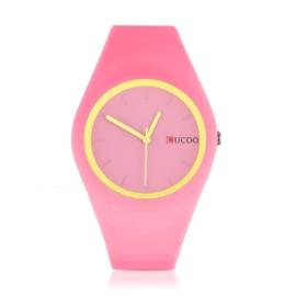 Zegarek silikonowy - różowy neon - Z1250