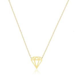 Celebrytka pozłacana diament - CP2824