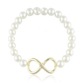 Bransoletka perełkowa - infinity - BRA1587