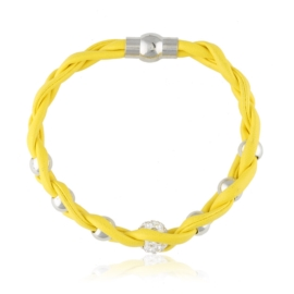 Bransoletka pleciona - yellow - BRA1627