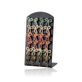Kolczyki kokardki na paletce - 12szt. - EA2631