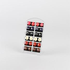 Kolczyki z kryształkiem na paletce- 12szt - EA2632