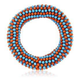 Bransoletka koraliki - red-blue - BRA1772
