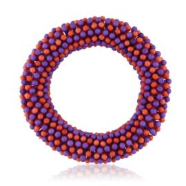 Bransoletka koraliki - red-violet - BRA1773