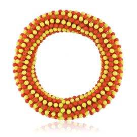 Bransoletka koraliki - red-yellow - BRA1774