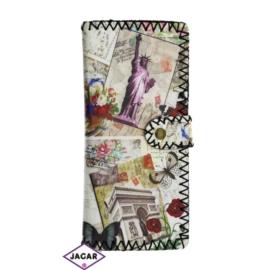 Szykowny portfel damski z nadrukiem - P1054