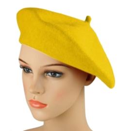 Beret damski Rabionek - żółty - RB27