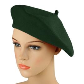 Beret damski Rabionek - butelkowa zieleń - RB41