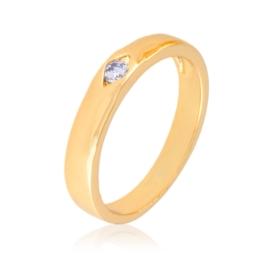 Obrączka z kryształkiem - Xuping - PP2538