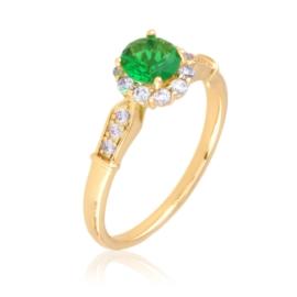 Pierścionek - zielony kamień - Xuping - PP2540