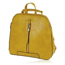Plecak damski sztywny - musztardowy - PL131