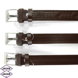 Pasek skórzany - brązowy - 3cm - BLM164