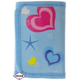 Portfel dziecięcy-fioletowy w serca 11cmx7cm P1074