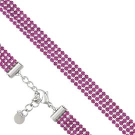 Bransoletka - różowe kryształki - Xuping - BP5577