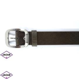 Pasek skórzany damski - ciemnobrązowy - 4cm - BL95