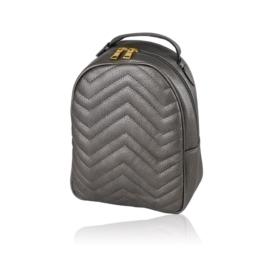Plecak damski miejski - stalowy 24cm - PL166