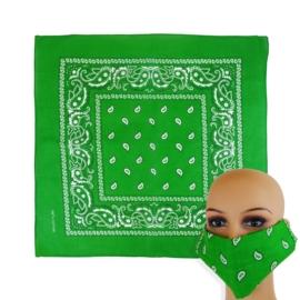 Chustka bandamka 55x55cm - zielona - WO1031