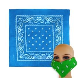 Chustka bandamka 55x55cm - niebieska - WO1037