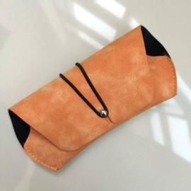 Etui na okulary - pomarańczowa saszetka - EO186