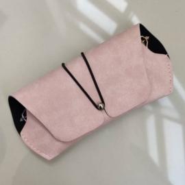 Etui na okulary - różowa saszetka - EO187