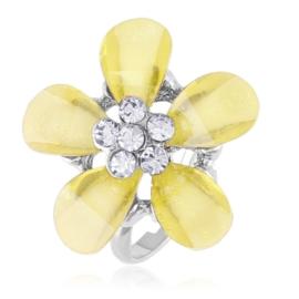 Pierścionek z regulacją żółty kwiat - PIER131