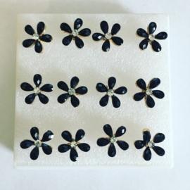 Kolczyki kwiatuszki w pudełeczku - 6szt. - EA2744