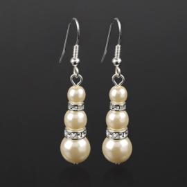 Kolczyki perła ecru 2rondle stopniow.50/150 EA2813