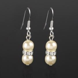Kolczyki perła ecru 1rondel 50/147 EA2815