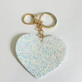 Brelok brokatowe serce - PU244