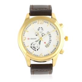 Zegarek męski - brązowy pasek - Z1285