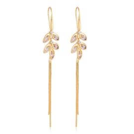Kolczyki wiszące z kryształkami - Xuping EAP12956