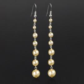Kolczyki czeskie perła ecru stopn.53/150 EA2861