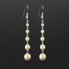 Kolczyki czeskie perła ecru stopn. 53/207 EA2863