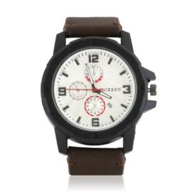 Zegarek męski - brązowy pasek - Z1313