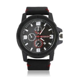 Zegarek męski - czarny pasek - Z1314