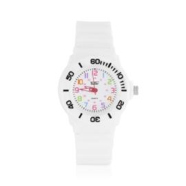 Zegarek dziecięcy silikonowy - biały - Z1324