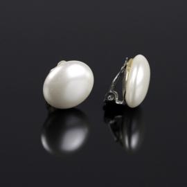Klipsy czeskie perła biała 1,8cm 43/105 EA2872