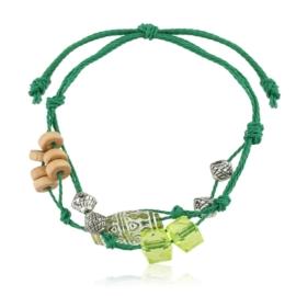 Bransoletka ma sznurku z koralikami - BRA2491
