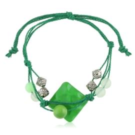 Bransoletka ma sznurku z koralikami - BRA2496