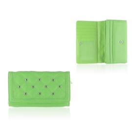 Portfel damski z ćwiakami - zielony - P1185