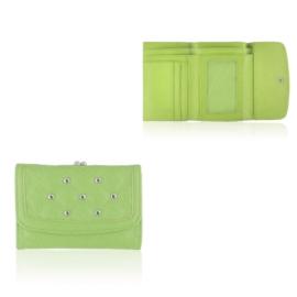 Portfel damski z ćwiakami - zielony - P1187